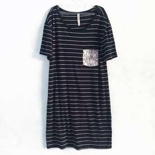Mini Dress Blue Stripe