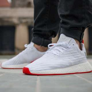Addidas Nmd R2 White Red