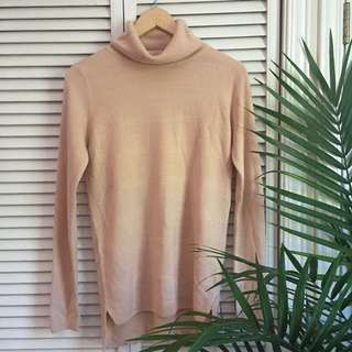 Soft Pink Long Turtle Neck