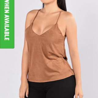 Really Cute Suede Tan Top