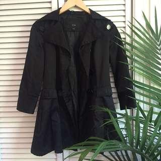 Short Black Trench Coat