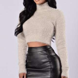 Really Cute Fuzzy Crop Top