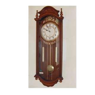 大型整點掛鐘 / 大型擺鐘 木製 (自取)
