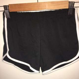 Black Booty Shorts Size Small