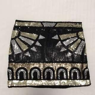 Sequenced Mini Skirt