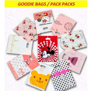 Goodie bags / party packs / birthday / children's day / gift bags for kids, children / cute teddy bear / minnie, mickey mouse / hello kitty