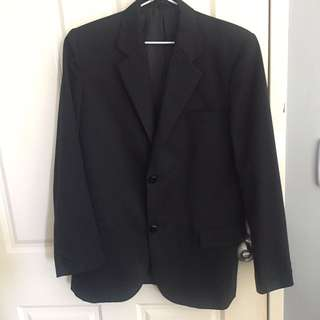 Fred Bracks Black Suit with Pants