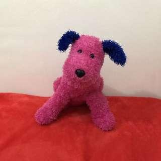 Pink Dog Stuffed Toy