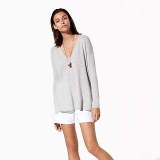 """Aritzia BABATON Grey """"Erin"""" Sweater"""