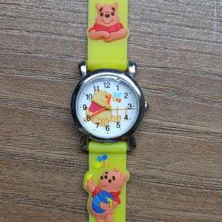 迪士尼正版 小熊維尼卡通錶