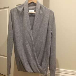 BNWOT Seed Heritage Twist Front Jumper Grey Small