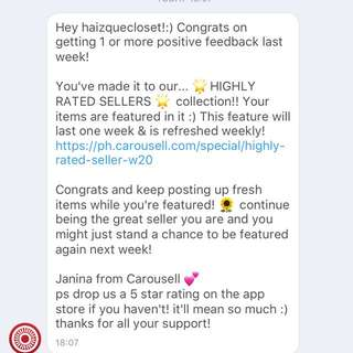 Week 5 THANK YOU CAROUSELL