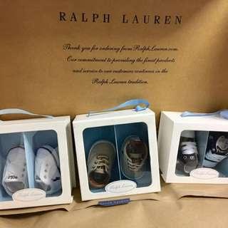 3pairs Original Ralph Lauren Babies Shoes