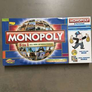 Monopoly Board Game 5 In 1
