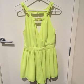 Bright Yellow Play suit