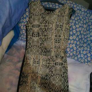 F.101 Snake Skin Design Dress