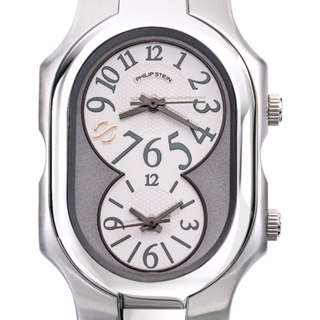 Authentic Philip Stein Teslar Large Gray Dial Signature Watch