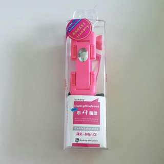 Supreme Mini III Pen Size Wireless Selfie Stick RK-Mini3 Pink