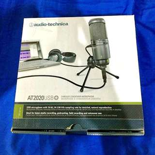 AudioTechnica AT2020USB+  Cardioid Condenser USB Microphone