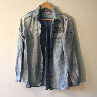 Supre Blue Denim Jacket Jumper