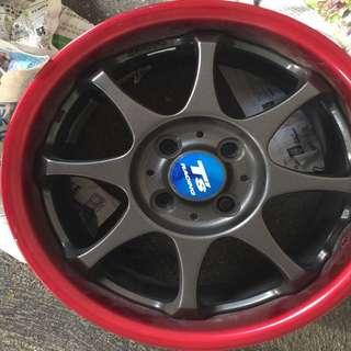 "15"" 4x100 Original Bridgestone T's Racing Rims"