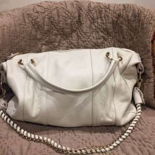 Tilkah Cloudy White Leather Bag