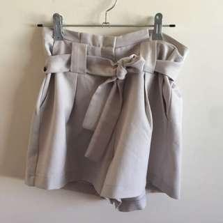 Tie Up Shorts  Grey