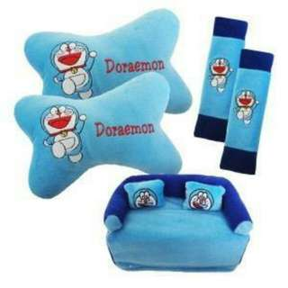 Bantal Headrest Doraemon 3in1