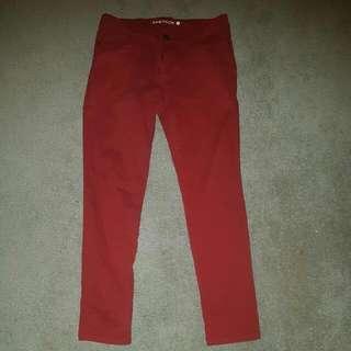 Red Jean Like Pants