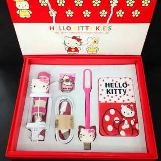 Hello kitty powerbank set 5 in 1