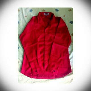 Red Longsleeve Polo (Large)