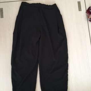 韓黑色寬褲