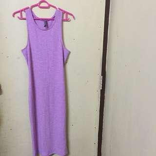 Cotton On Long Dress (Light Purple)