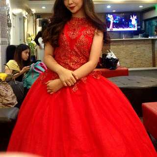 Elegant Red Ball Gown