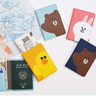 Line Friends passport cover
