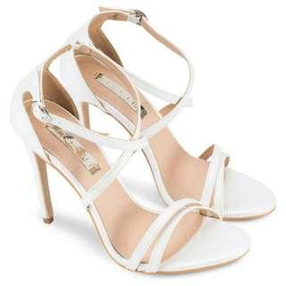 BILLINI Gardenia White Pearl Heels BNWT Size 8 RRP $89.95