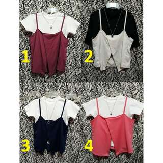 Cami Top with Front Slit (Including inner shirt)