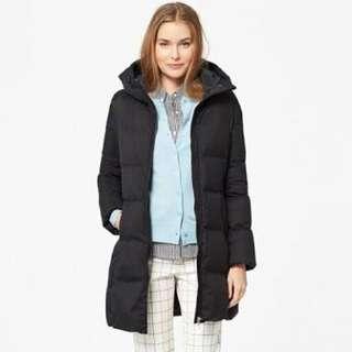 Uniqlo Women's Black Half-Length Down Jacket