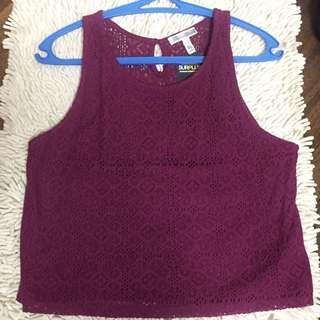 Surplus Lace Crop Top
