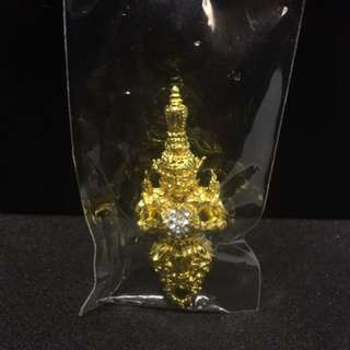Phra Rahu of Bronze plated with 18k micron gold