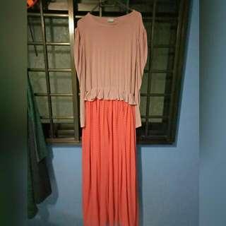 Long Peplum Dress