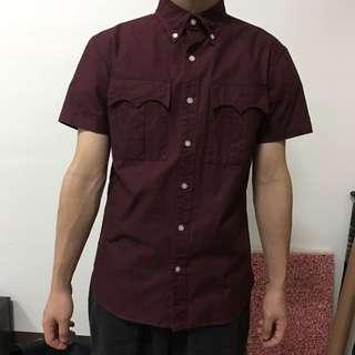 日本製 Kolor 短袖襯衫