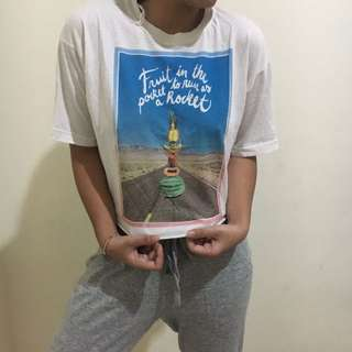 ZARA croptop t-shirt