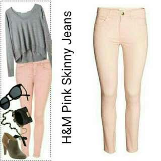 H&M Pink Denim Leggings