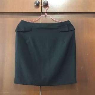 woman black skirt