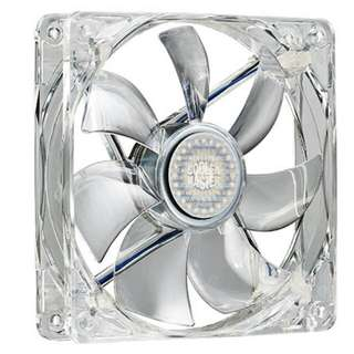 Twin Pack Cooler Master Transparent Case Fans With Blue LED - Silent Fan 120 SI3