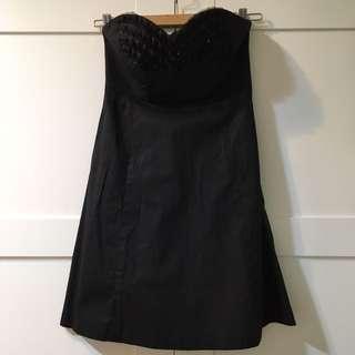 Empress6黑色平口洋裝