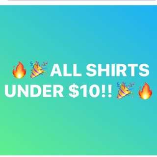 TOPS UNDER $10!!