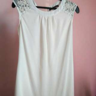 preloved samlin white dress