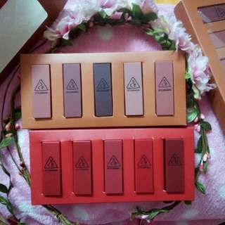 INC POS !!! 3CE Lipstick Matte Nude Colour Kits